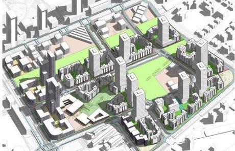 """שדה דב: תכנית ראשונה אושרה להפקדה – 4800 יח""""ד 680 חדרי מלון ושטחי תעסוקה בהיקף של 145,000 מ""""ר"""