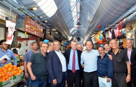 על גגות ירושלים: הושלם פרויקט שדרוג גגות שוק מחנה יהודה
