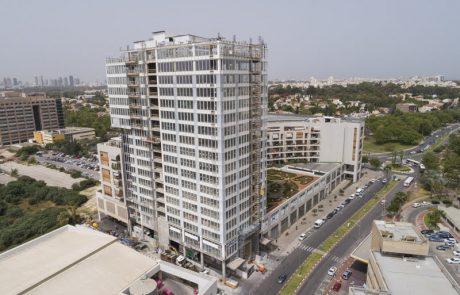 """נחשף מגדל המשרדים הגבוה ברמת החי""""ל: 17 קומות ו-19,500 מ״ר של משרדים"""